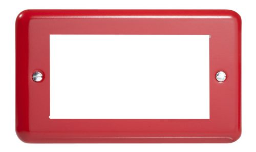 Varilight XYG4.PR Lily Primary Pillar Box Red DataGrid Twin Plate (4 DataGrid Spaces)
